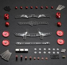 все цены на 1 set MA/AR/S2/VS/TZ/SX/SXX/MS/FM/S1 Chassis modification spare parts set kit red/black color for Tamiya mini 4WD RC Car model онлайн