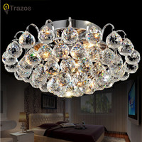 Contemporary Ceiling Lights Crystal Ceiling Lamp Semi Flush Surface Mounted Modern Led Ceiling Lights Bedroom Ceiling