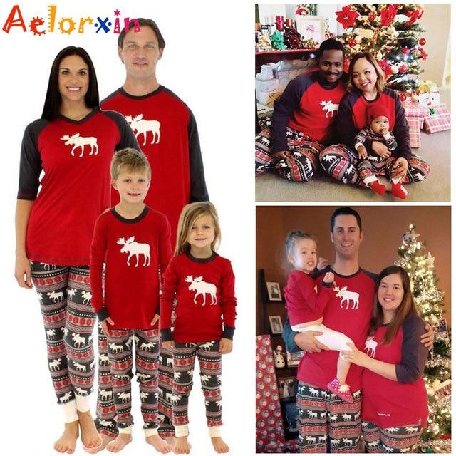 Pijamas De Navidad Para Familia Juego De Trajes Ciervos Adultos