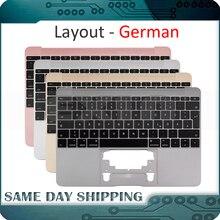 Dla Macbook 12 A1534 niemiecki niemcy Deutsch klawiatura z Topcase Top Case złoty/szary szary/srebrny/różowe złoto kolor 2015 2017