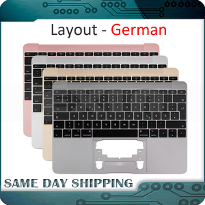 Image 1 - For Macbook 12 A1534 German Germany Deutsch Keyboard with Topcase Top Case Gold/Gray Grey/Silver/Rose Gold Color 2015 2017