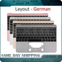 Для Macbook 12 A1534 немецкая клавиатура Deutsch с верхним корпусом золотого/серого/серебряного/розового золота 2015 2017