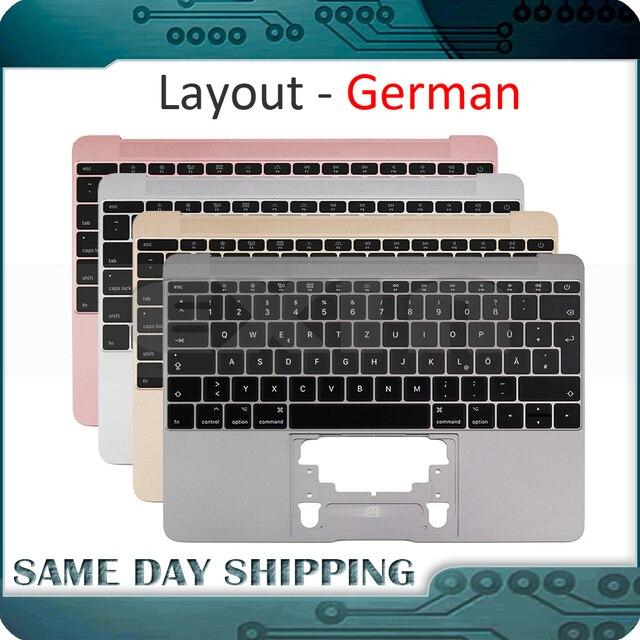 Macbook 12 a1534 독일 독일 독일 키보드 탑 케이스 탑 케이스 골드/그레이 그레이/실버/로즈 골드 컬러 2015 2017