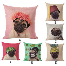 6 styles dog cushion covers pillow cover 45*45 flax decorative pillows Waist Square home decoration Throw PillowCase F300408(China)