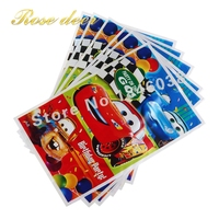 500 sztuk/partia Theme Strona Prezent Torba Strona Dekoracji SAMOCHODU Plastikowe Cukierki Torba Loot Bag Dla Kids Festival Party Supplies
