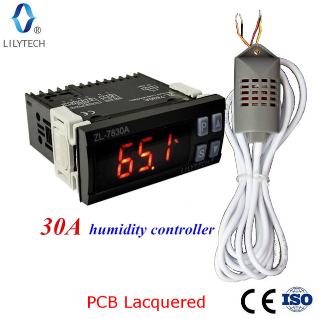 ZL-7830A, 30A relay, 100-240Vac, Digital, Humidity Controller, Hygrostat, Lilytech