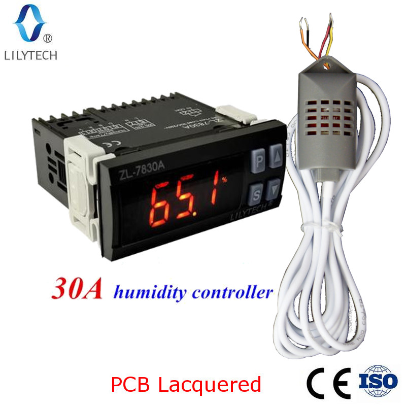ZL-7830A, 30A relais, 100-240Vac, Digital, Feuchtigkeit Controller, Hygrostat, Lilytech