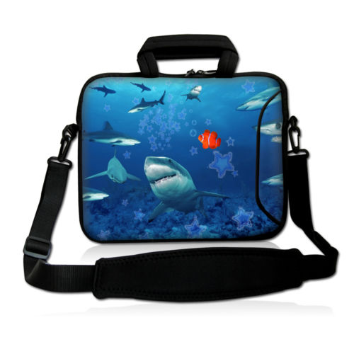Sharks 11 12 13 14 15 15.6 17 inch Laptop shoulder Bag Case Computer Sleeve Briefcase Men Women for Macbook Air Pro Case