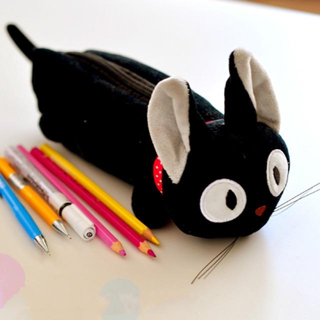 Cartoon Miyazaki Hayao Kiki's Delivery Service Black Cat Cute Pencil Bag Make Up Pen Case