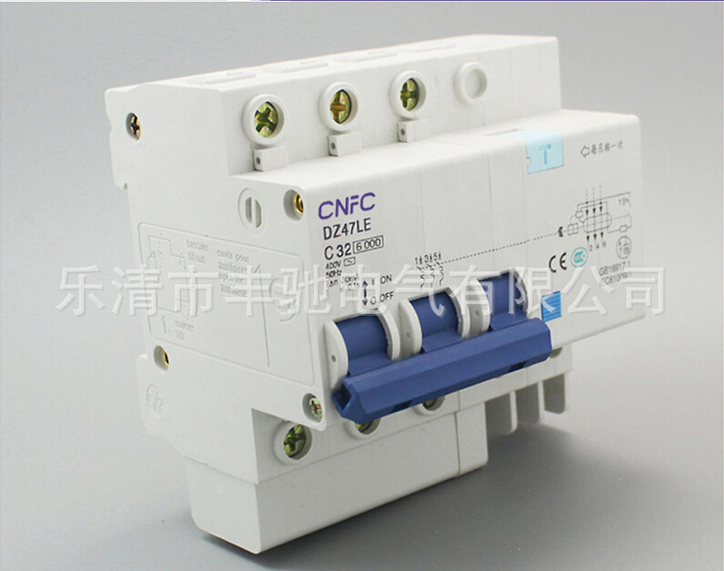 DZ47LE 3P+N 32A 30MA  230/400V~Small leakage circuit breaker DZ47LE-32A Household leakage protector switch