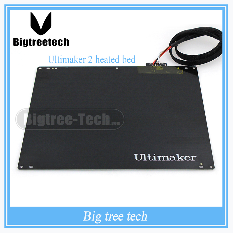 NEW 3D printer accessories DIY Ultimaker 2 UM2 hot bed / aluminum alloy UM2 heated bed plate with PT001 And cable 3D0042