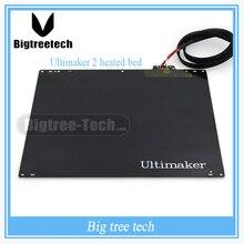 НОВЫЙ 3d-принтер аксессуары DIY Ultimaker 2 МКМ2 горячей кровать/алюминиевый сплав UM2 подогревом кровать пластины с PT001 И кабель 3D0042