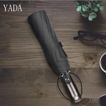 YADA Pure Color Large Charms Automatic Umbrella Rain Women uv High Quality For Womens Windproof Folding Umbrellas YS251