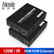 HDMI Extender 100m 120m with mouse control 1080P HDMI KVM Extender Over Cat 5e Cat6 Lan