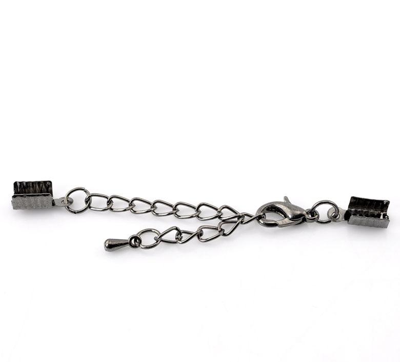 DoreenBeads Alloy Extender Chain Gunmetal 7cm X5mm(2 6/8