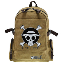Hot selling canvas famous cartoon ONE PIECE dollar price boys bag teenagers messenger school mochila backpack