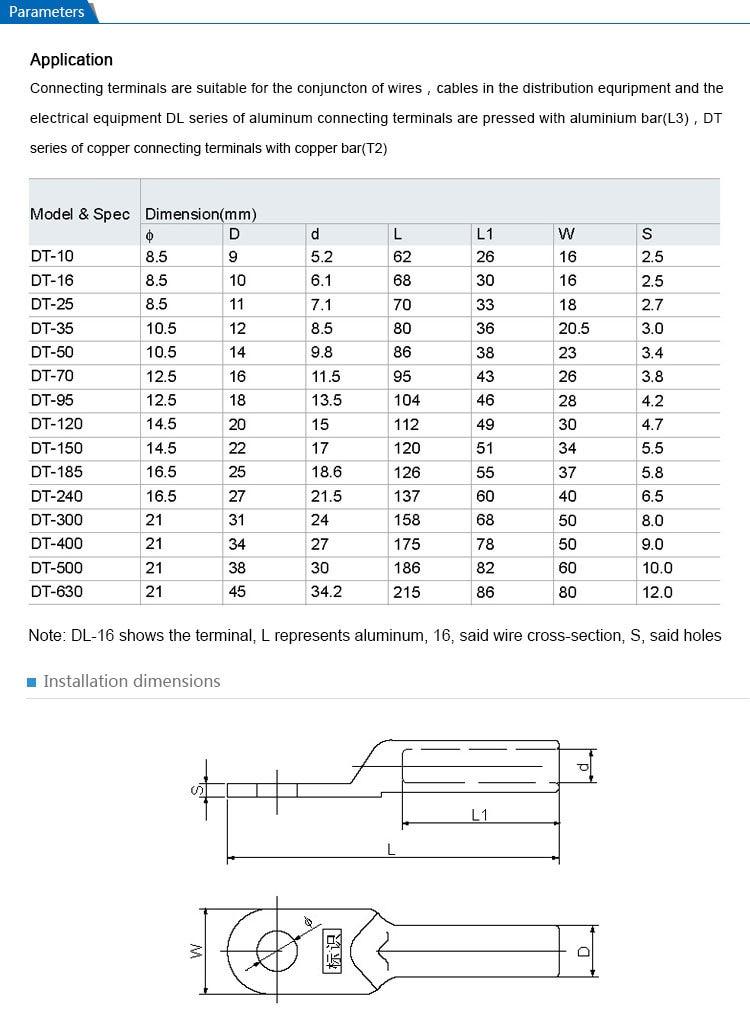 Saipwell 95mm2 DT 95 10 Teile/los kupfer anschlussklemme ...