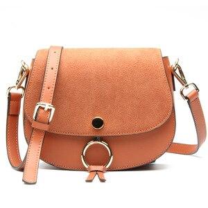 Image 2 - Mini bolso de diseñador de marca para mujer, bandoleras de piel auténtica de alta calidad, informal, pequeño, Color marrón y azul, Primavera, 2017