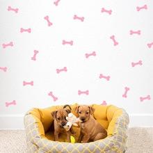Kids Wall Sticker Dog Bone Stickers for Room DIY Children Girls Decor Gold Baby Art