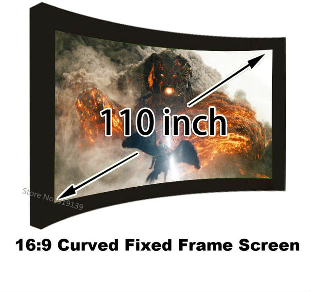 110inch Perfect Size High Quality Curved Fixed Projection Screen 16