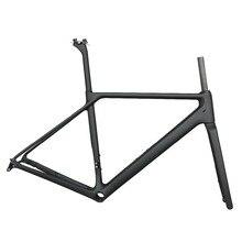 Envío Gratis nuevo carbono montaje plano disco freno carretera bicicleta marco bicicleta Frameset eje a través de la nueva tecnología EPS T1000 carbono