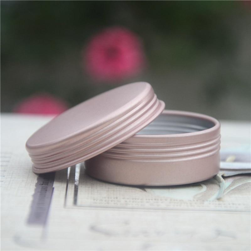 100pcs 20g 25g Empty Rose Gold Aluminum Jar Cosmetic Container Tin Aluminum tin Cases for Lip