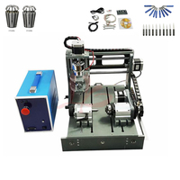 300W spindle mini cnc router 3020 with free V cutter tools and ER11 cnc collet chuck for hobby DIY work