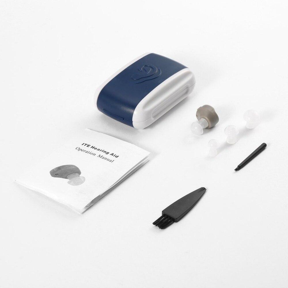 Hohe Qualität Hörgeräte para oreja Kleine In-ohr Stimme Sound Verstärker Einstellbar Ton Mini Hörgerät Tragbare Bequem