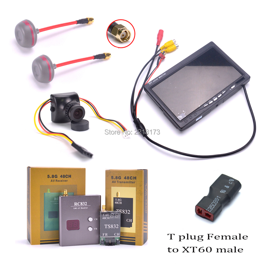700TVL Camera 7 inch LCD 1024 x 600 Monitor NO Blue FPV 5.8G TS832 Transmitter RC832 Receiver 600mW 48CH Fatshark Antenna nike air zoom structure 19 flash