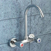 Cold And Hot Water Taps Deck Mounted Basin Faucets Bath Shower Faucets Dual Hole Bathroom Sink