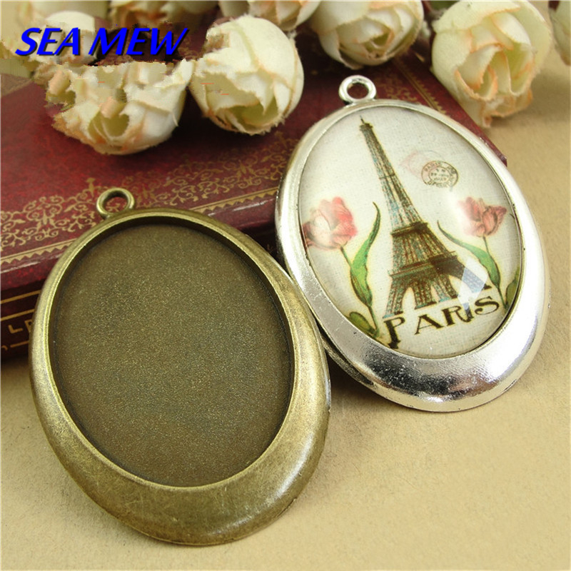 10 x retro Bronze Brass adjustable Filigree DIY Ring With Blank 3D Flower  Bezel Base for 20 mm Cabochon jewelry Making Findings Supplies