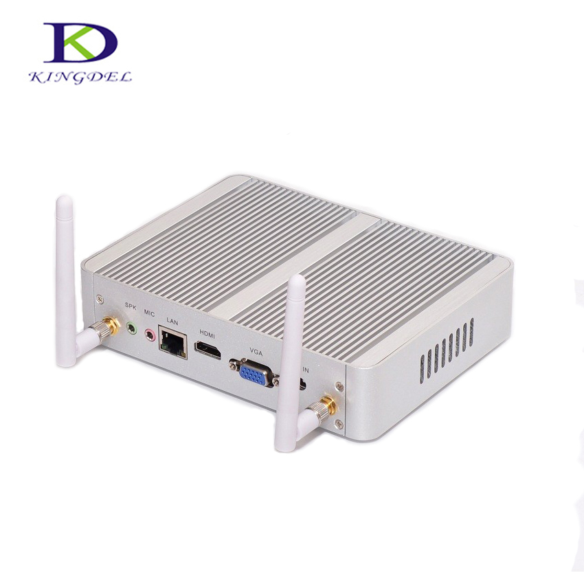 Kingdel Business Fanless Mini PC,Cheapest N3150 Mini Computer,Intel Core i3 4005U i3 5005U,4K HTPC,300M Wifi,HDMI,VGA,Windows 10 brand new brand new 2 x1 2 x2 female tee threaded reducer pipe fittings f f f stainless steel ss304 new high quality