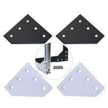 Plaque de jonction avec 5 trous et 90 degrés, 12 pièces, support d'angle, bande de connexion pour cadre d'imprimante 3D, profil en aluminium 2020