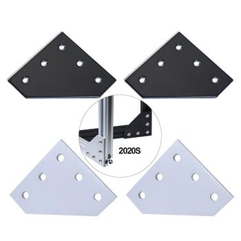 12 шт. 5 отверстий 90 градусов Соединительная пластина угловая Скоба Соединительная полоса для 2020 алюминиевый профиль 3D рамка принтера