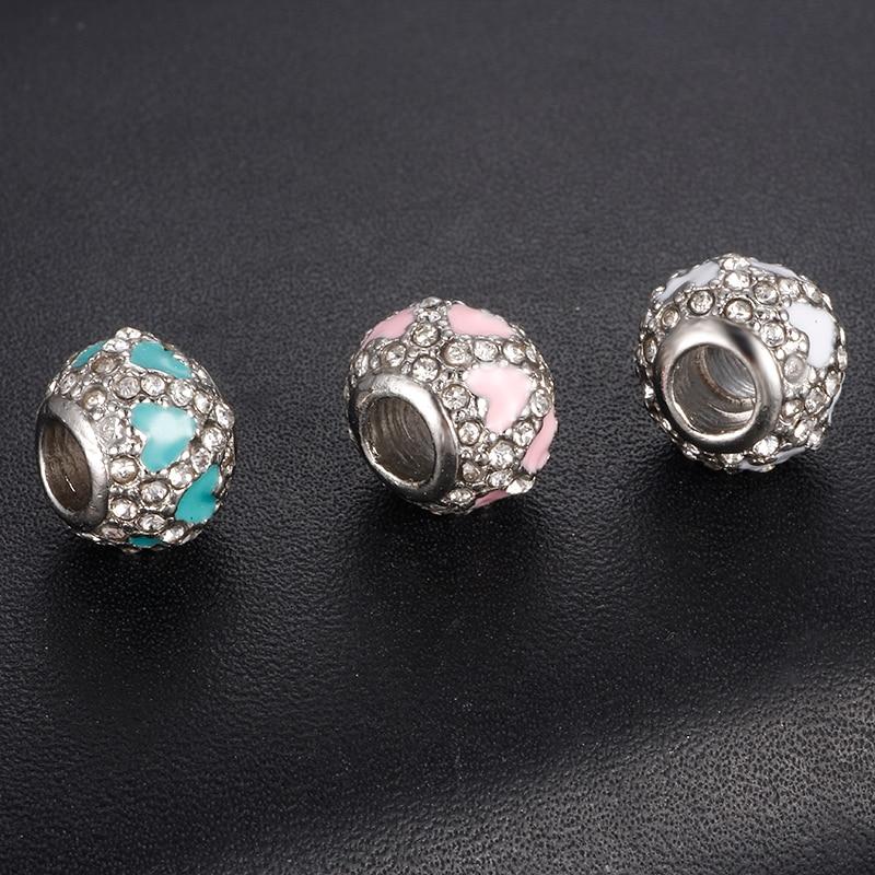New Luminous Hearts Beads Fit DIY Pandora Charms Bracelet Beads for Jewelry Making Women Fashion