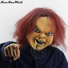 Cadılar bayramı ücretsiz kargo terörist lateks korkunç hayalet maske oyuncak oyunu hile maskesi karnaval parti gösterisi Chucky doll lateks maske