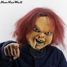 Máscara de látex para Halloween, máscara de fantasma aterrador, juego de máscara de Trick Carnival Party Show, muñeco Chucky, máscara de látex, envío gratis