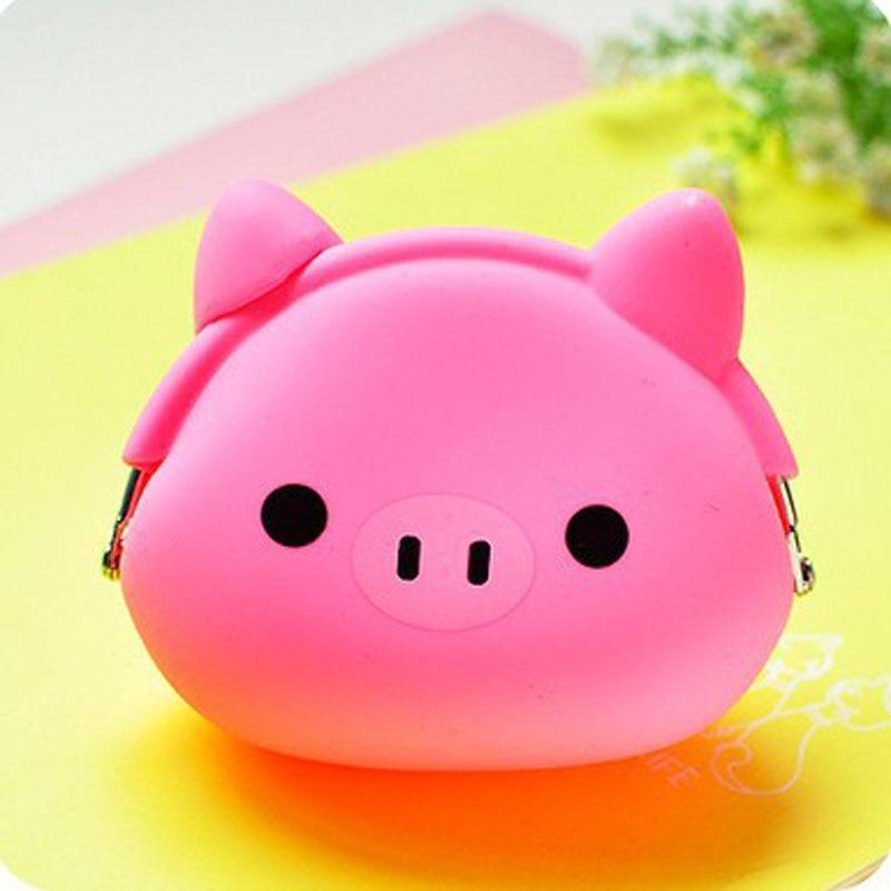 Mini Purse Soft Surface Fastener Female Cartoon Silicone Change Pouch Key Holder Change Purse Money Bag Small Pocket Brand bag