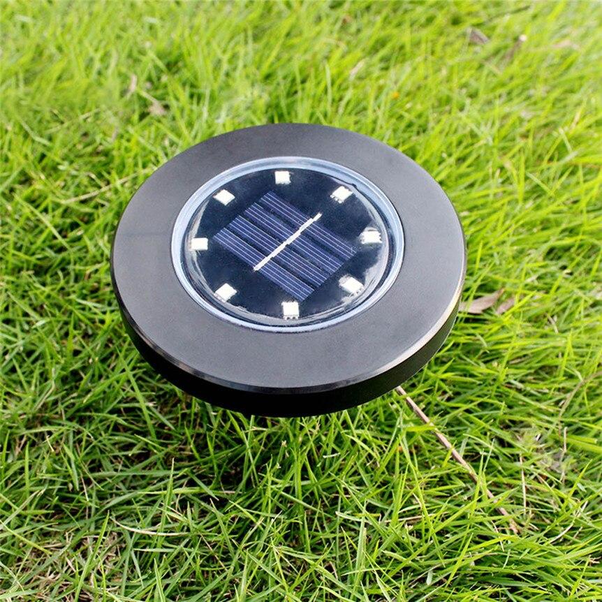 Водонепроницаемый 8 светодиодный солнечный грунтовый светильник на открытом воздухе, зарытый садовый троп, утопленный в грунтовый светильник ing 0530