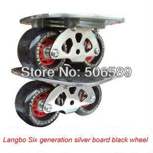 Livraison gratuite freeline patins argent planche noir roues langbo 6 génération dérive board