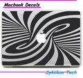 3D Визуальные Эффекты Времени Спиральный Узор Логотип для Apple Наклейка для Macbook кожи Air 11 13 Pro 13 15 Сетчатки Стены Винила Полный Наклейки