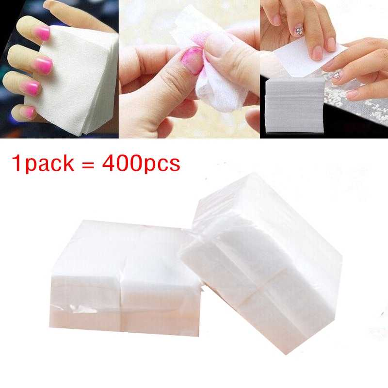 400pieces/pack Wipes Napkins Manicure Remove Nails Varnish Cotton Pads Nail Art Tools Lint free Nail Gel Polish Removal Wraps