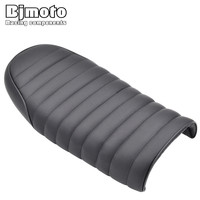 BJMOTO Brat Long Flat Cafe Racer Seat Retro Locomotive Refit Motorcycle Seat Leatherette Waterproof Hump Seats Cover