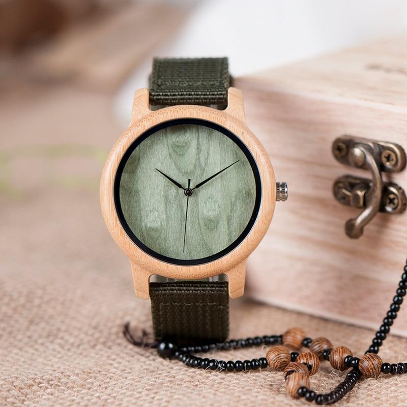 BOBO BIRD Relojes de bambú de madera natural para mujer Reloj - Relojes para hombres - foto 3