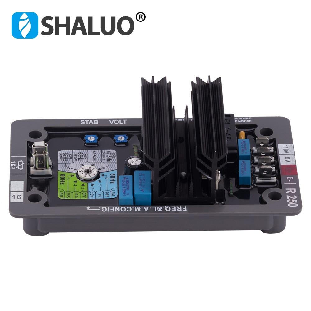 R250 AVR Automatic Voltage Regulator for generator control panel avr regulator Diesel alternator avr stabilizer(China)