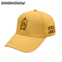 [DINGDNSHOW] 2019 Fashion Child Baseball Cap Snapbacks Hat Cotton Cartoon Duck Embroidery Lovely Hip Hop Cap for Boys and Girls цена