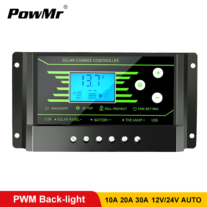 <b>PWM</b> солнечные контроллеры <b>30A 20A 10A</b> 12V 24V Авто PV ...