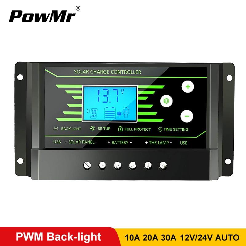 PWM солнечные контроллеры 30A 20A 10A <b>12V</b> 24V Авто PV ...