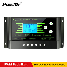 PWM 30A 20A 10A Solar Charge Controller 12V 24V Auto with Back-light LCD Display Dual USB 5V Solar Regulator Charger Z10 Z20 Z30 10a 20a pwm controllers 12v 24v waterproof ip68 solar charge controller led light