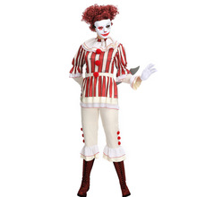 Umorden IT 2 Pennywise Clown Cosplay Costume Stephen King It Costumes for Women Halloween Carnival Mardi Gras Party Dress